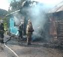 На улице Шишкова в Туле сгорела половина жилого дома