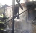 В Кимовском районе дотла сгорел дом
