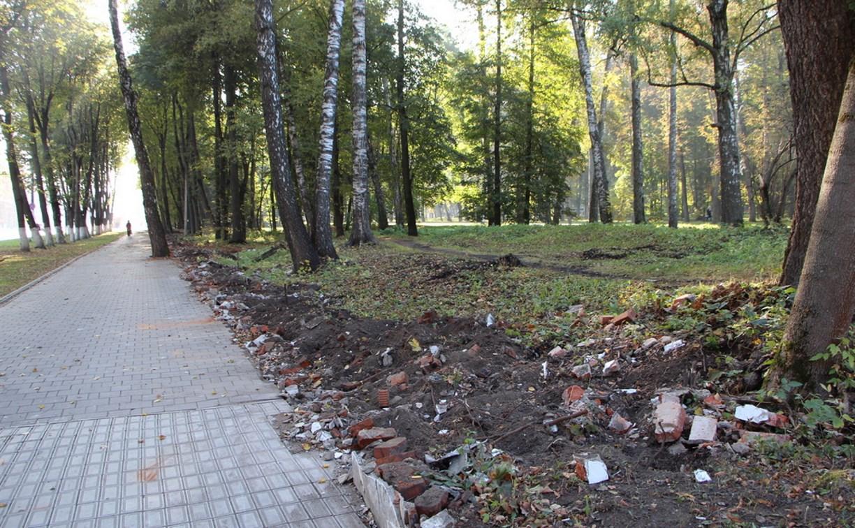 В Центральном парке Тулы реставрируют ограждение
