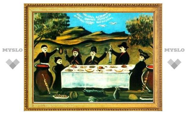 В Грузии продадут дверь винного погреба с росписью Пиросмани