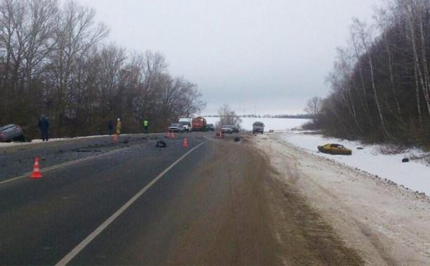 В ДТП в Плавском районе пострадали 10 человек