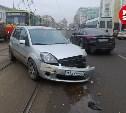 На улице Советской в Туле пробка из-за ДТП