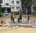 В Пролетарском округе обустраивают новый сквер