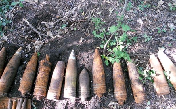 В Белёвском районе обезврежена большая партия снарядов времён войны