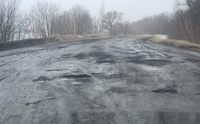 Жители Узловой жалуются на ухабы на дорогах