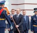 Путин в Суворовском училище: фоторепортаж