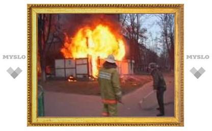 В Тульской области на пожаре погиб мужчина
