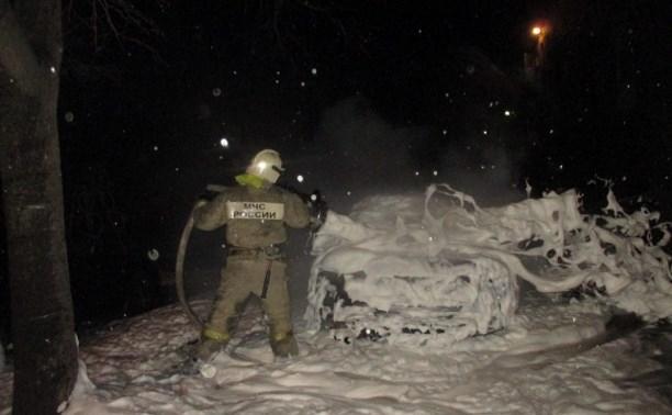 Ночью в Туле и Узловой сгорели три автомобиля