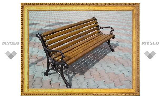 Под Тулой мужчина украл уличную скамейку