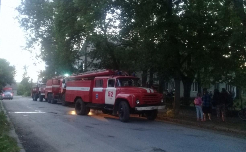 Из горящей квартиры тульские пожарные спасли мужчину