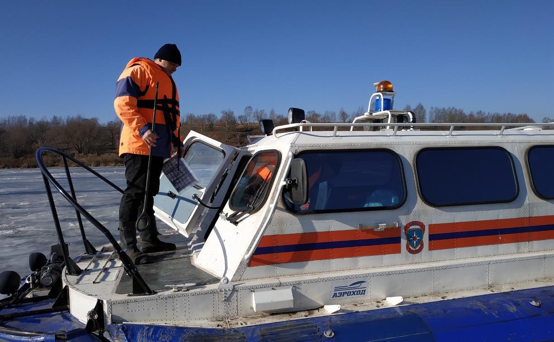 В Тульской области спасли пятерых рыбаков с отколовшейся льдины: видео