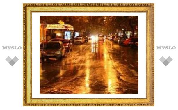 Ночью в Туле пасмурно и дождь