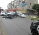 В Туле на улице Кутузова автомобиль «Киа» сбил мотоциклиста