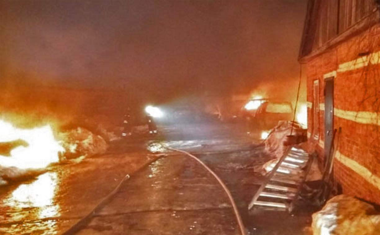 В Донском ночной пожар уничтожил 13 автомобилей