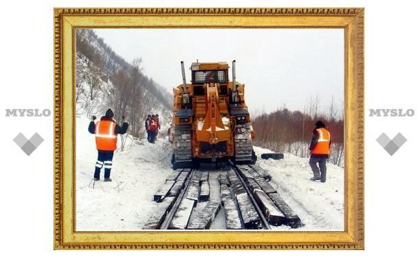 На тульской железной дороге «погодный аврал»