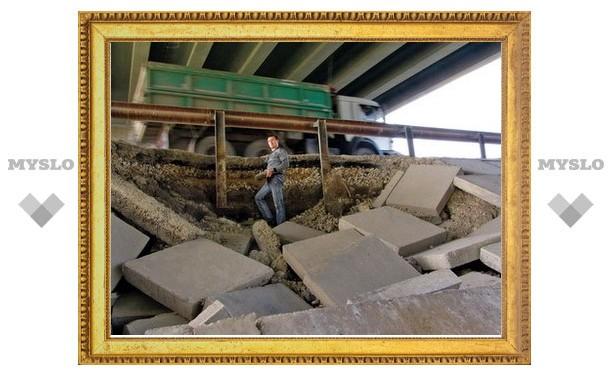На въезде в Тулу рушится мост