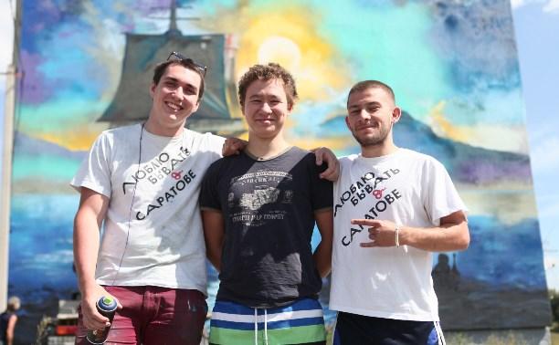 Самарские райтеры нарисовали картину Айвазовского на доме в Иншинке
