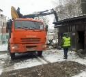 На улице Гоголевской снесли незаконные сараи