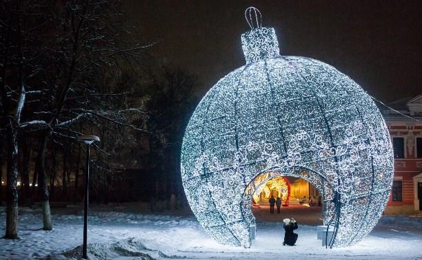 С 1 февраля в Туле начнут убирать новогодние украшения