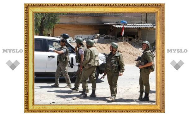 Сирийские повстанцы обменяли подбитый танк на своих соратников