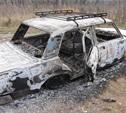 В Заокском районе сгорела отечественная легковушка с московскими номерами