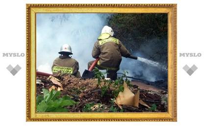 В Туле едва не сгорел гаражный кооператив