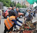 В Туле на ул. Плеханова разогнали уличных торговцев