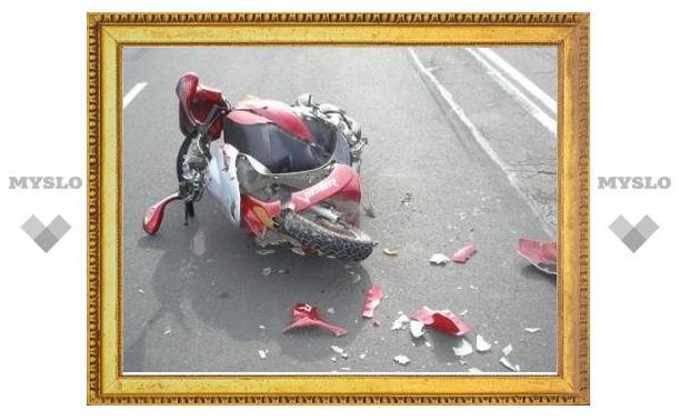 Школьник на скутере врезался в «семерку»