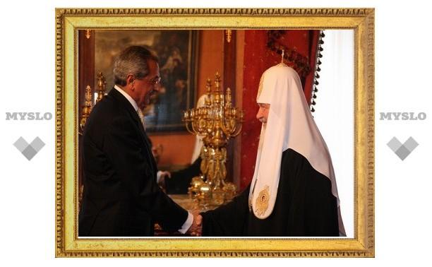 Состоялась встреча Предстоятеля Русской Православной Церкви с послом Иордании в Российской Федерации