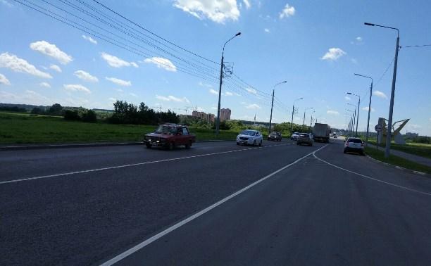 В Туле начался ремонт тротуара на Восточном обводе