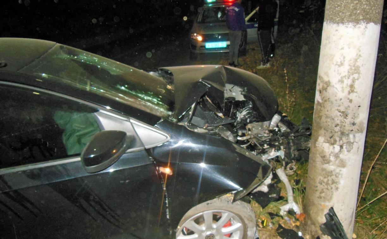В Донском пьяный водитель врезался в столб