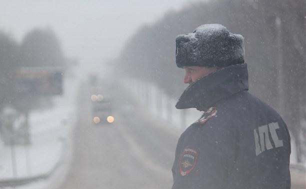 Тульское УГИБДД призывает водитель быть осторожными в связи с плохими погодными условиями