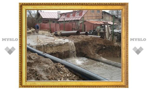 Жители ул. Переходной в Туле боятся, что их дома уйдут под землю