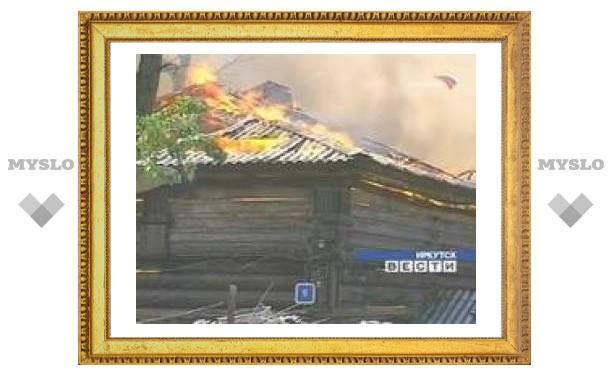 В Иркутской области сгорела сельская школа