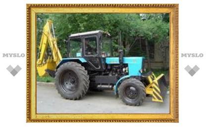 В Туле трактор едва не взлетел на воздух