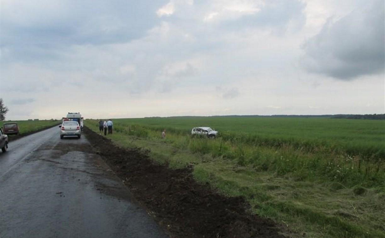 В Тульской области «Шевроле» улетел в кювет
