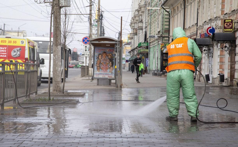 В Туле дезинфицируют улицы: фоторепортаж Myslo