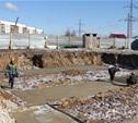 В Скуратово начали закладывать фундамент для пяти жилых домов