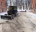На Косой Горе расчищают дороги от снега