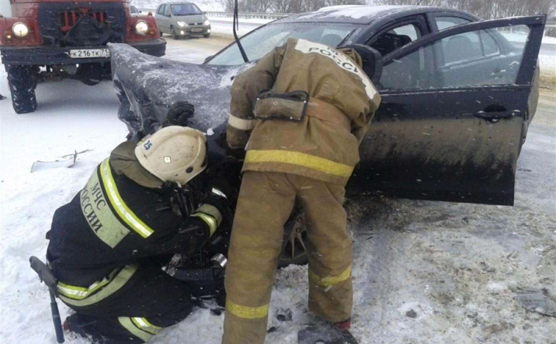 На дороге «Тула – Новомосковск» столкнулись «Мицубиси» и «Сузуки»