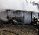 Ночью под Тулой сгорел пассажирский автобус