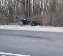 На трассе в Тульской области легковушка врезалась в КамАЗ