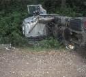 На трассе «Дон» грузовик «Вольво» улетел в кювет