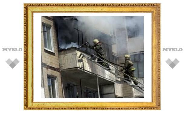 В Туле загорелась пятиэтажка