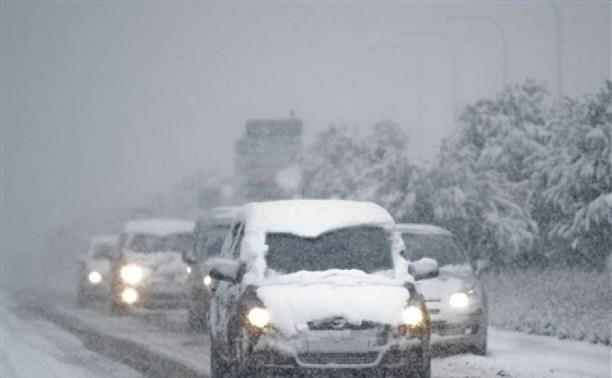 ГИБДД Тулы просит водителей воздержаться от поездок по трассе М4