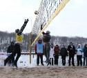 Турнир по пляжному волейболу на снегу определил сильнейшую тульскую пару