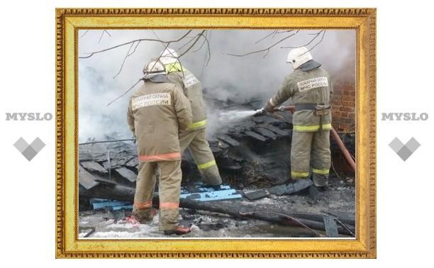 В Тульской области на пожаре погиб человек