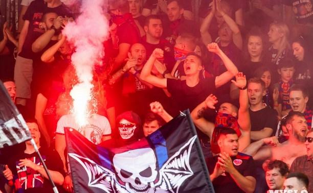 ЦСКА оштрафован на 80 тысяч рублей за файеры на тульских трибунах