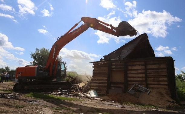 В Плеханово сегодня должны снести 31 незаконную постройку