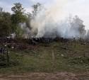 Очевидцы: В Узловском районе загорелось кладбище